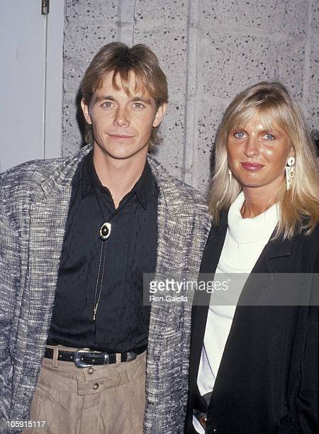 Christopher Atkins and Wife Lyn Barron during Listen To Me Premiere May 3 1989 at Academy Theater in Beverly Hills California United States