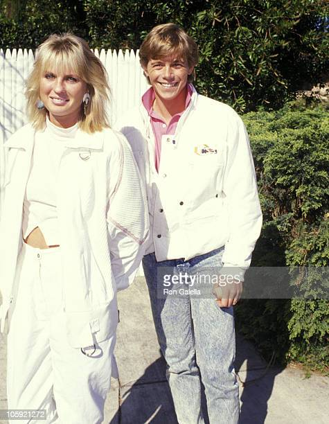 Christopher Atkins and Wife Lyn Barron during McClaren Home for Abused Children Benefit at Home of Henry Winkler in Toluca Lake California United...