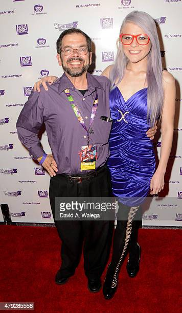 Christopher Ayres and Krystal Laporte attends the Premiere Of 'Dragon Ball Z Resurrection 'F at Regal Cinemas LA Live on July 2 2015 in Los Angeles...