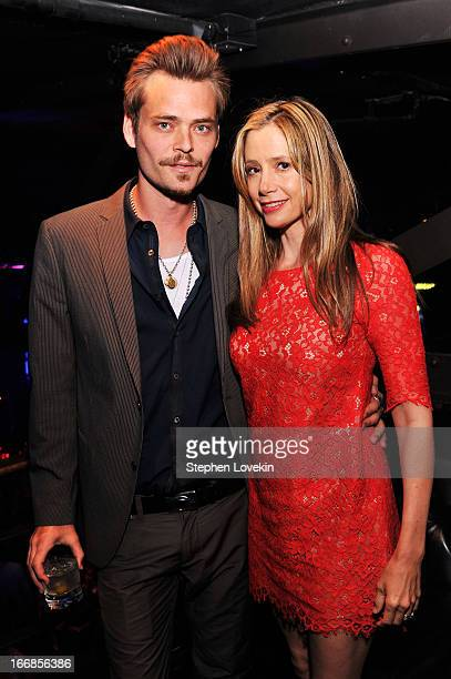 Christopher Backus and Mira Sorvino attend the 2013 Tribeca Film Festival opening night after party for Mistaken For Strangers sponsored by American...