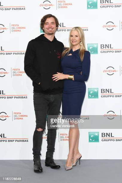 Christopher Backus and Mira Sorvino attends the photocall of the movie Drowning during the 14th Rome Film Festival on October 20 2019 in Rome Italy