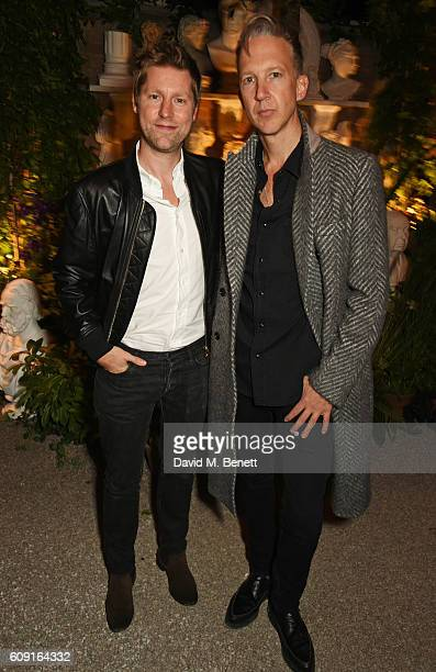 Christopher Bailey and Jefferson Hack attends the launch party which they hosted to celebrate the Burberry and Dazed cover featuring Jean Campbell at...
