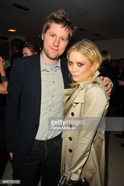 Christopher Bailey and MaryKate Olsen attend Cocktail party at BARNEY's New York in honour of CHRISTOPHER BAILEY Creative Director of BURBERRY at...