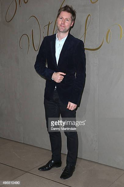 Christopher Bailey arrives for the premiere of the Burberry Festive Film at Burberry on November 3, 2015 in London, England.