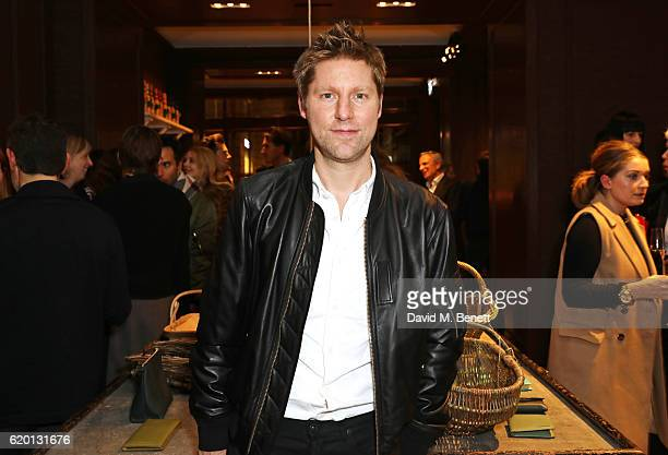 Christopher Bailey wearing Burberry attends an event to celebrate 'The Tale of Thomas Burberry' at Burberry's all day cafe Thomas's on November 1...