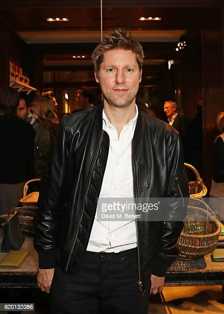 Christopher Bailey, wearing Burberry, attends an event to celebrate 'The Tale of Thomas Burberry' at Burberry's all day cafe Thomas's on November 1,...