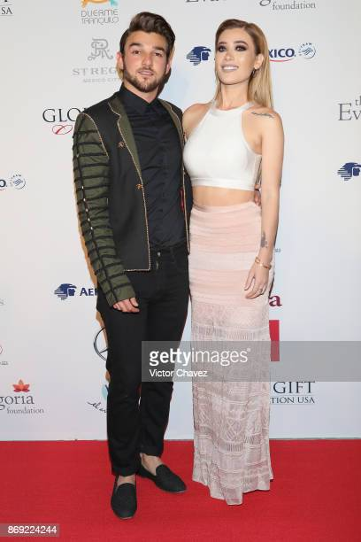 Christopher Basteris and Brenda Zambrano attend The Global Gift Gala Mexico 2017 at St Regis Hotel on November 1 2017 in Mexico City Mexico