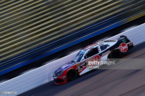 Christopher Bell, driver of the Rheem Toyota, drives during practice for the NASCAR Xfinity Series U.S. Cellular 250 at Iowa Speedway on July 26,...