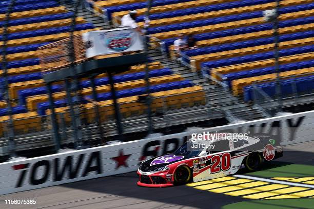 Christopher Bell driver of the Rheem Toyota drives during qualifying for the NASCAR Xfinity Series US Cellular 250 at Iowa Speedway on July 27 2019...