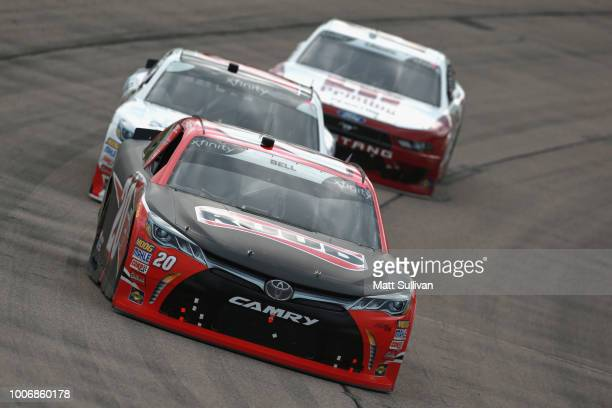 Christopher Bell driver of the Ruud Toyota leads a pack of cars during the NASCAR Xfinity Series US Cellular 250 presented by The Rasmussen Group at...
