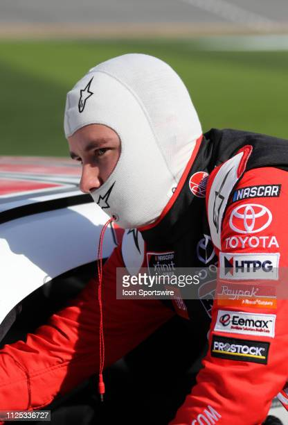 Christopher Bell Joe Gibbs Racing Toyota Camry Rheem during qualifying for the NASCAR Racing Experience 300 on February 16 2019 at Daytona...