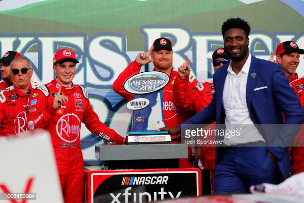 Christopher Bell Xfinity Series driver of the Rheem Toyota poses after winning the Xfinity Series Lakes Region 200 on July 21 at New Hampshire Motor...