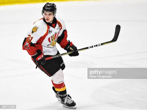 Christopher Benoit of the BaieComeau Drakkar skates against the BlainvilleBoisbriand Armada during the QMJHL game at Centre d'Excellence Sports...