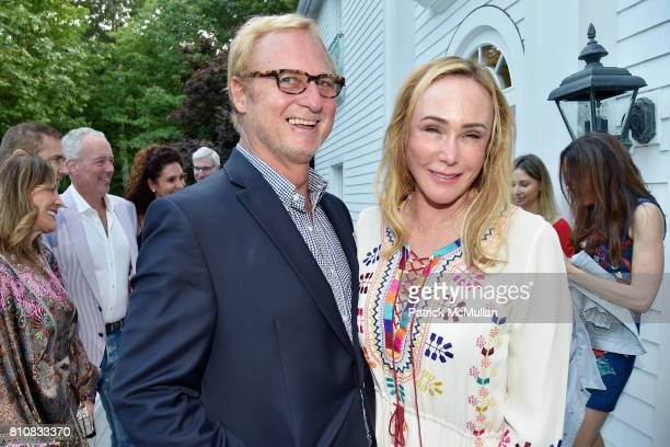 Christopher Bickford and Patty Raynes attend Katrina and Don Peebles Host NY Mission Society Summer Cocktails at Private Residence on July 7 2017 in...