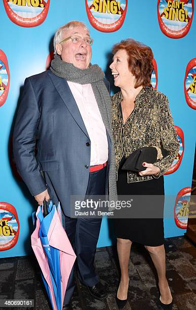 Christopher Biggins and Cilla Black arrive at the press night performance of 'I Can't Sing The X Factor Musical' at the London Palladium on March 26...
