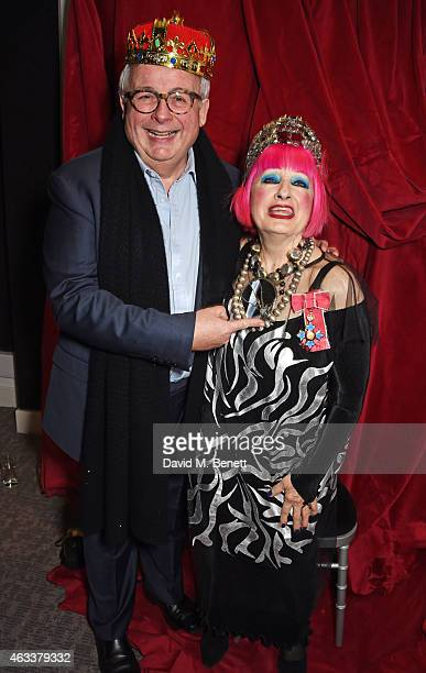 Christopher Biggins and Dame Zandra Rhodes attend a party to celebrate Zandra Rhodes becoming a Dame at The Fashion and Textile Museum on February 13...