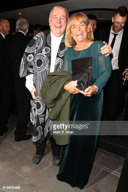 Christopher Biggins and Linda Robson attending the Broadcast Awards on February 7 2018 in London England