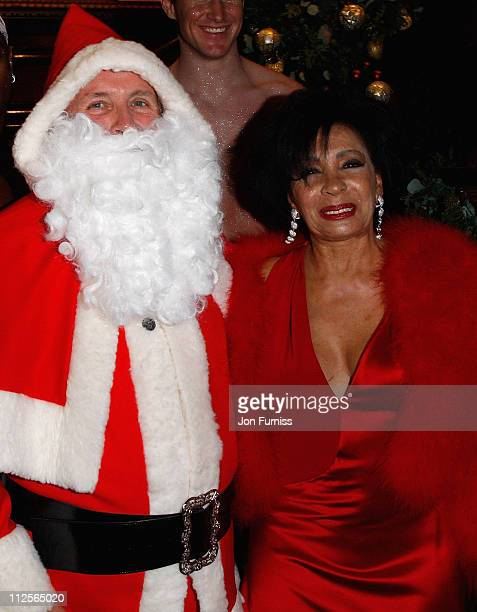 Christopher Biggins as Santa Claus and Dame Shirley Bassey attend Christmas party in honour of Dame Shirley Bassey to celebrate her 70th Birthday...