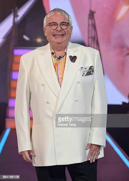 Christopher Biggins enters the Big Brother House for the Celebrity Big Brother launch at Elstree Studios on July 28 2016 in Borehamwood England