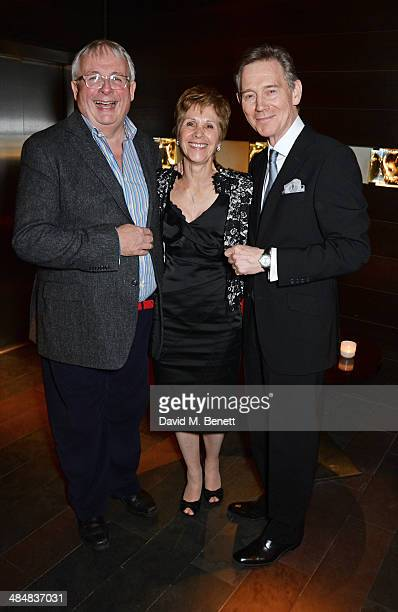 Christopher Biggins Georgina Simpson and Anthony Andrews attend an after party celebrating the press night performance of Relative Values at Mint...
