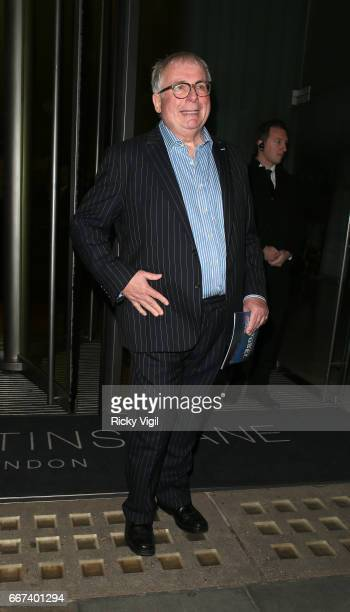 Christopher Biggins leaving the press night after party for the English National Opera's production of Rodgers Hammerstein's 'Carousel' at St Martins...