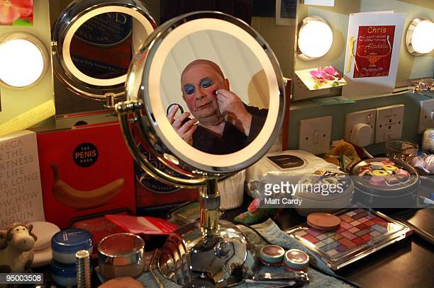 Christopher Biggins prepares for his role as panto dame Widow Twankey at the Theatre Royal Plymouth on December 22 2009 in Plymouth England...