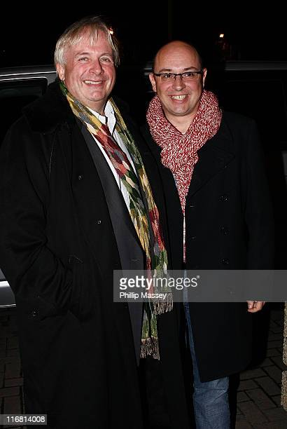 Christopher Biggins winner of 'I'm a Celebrity Get Me Out of Here' and Neil Sinclair appear on the Late Late Show in the RTE Studios on December 7...