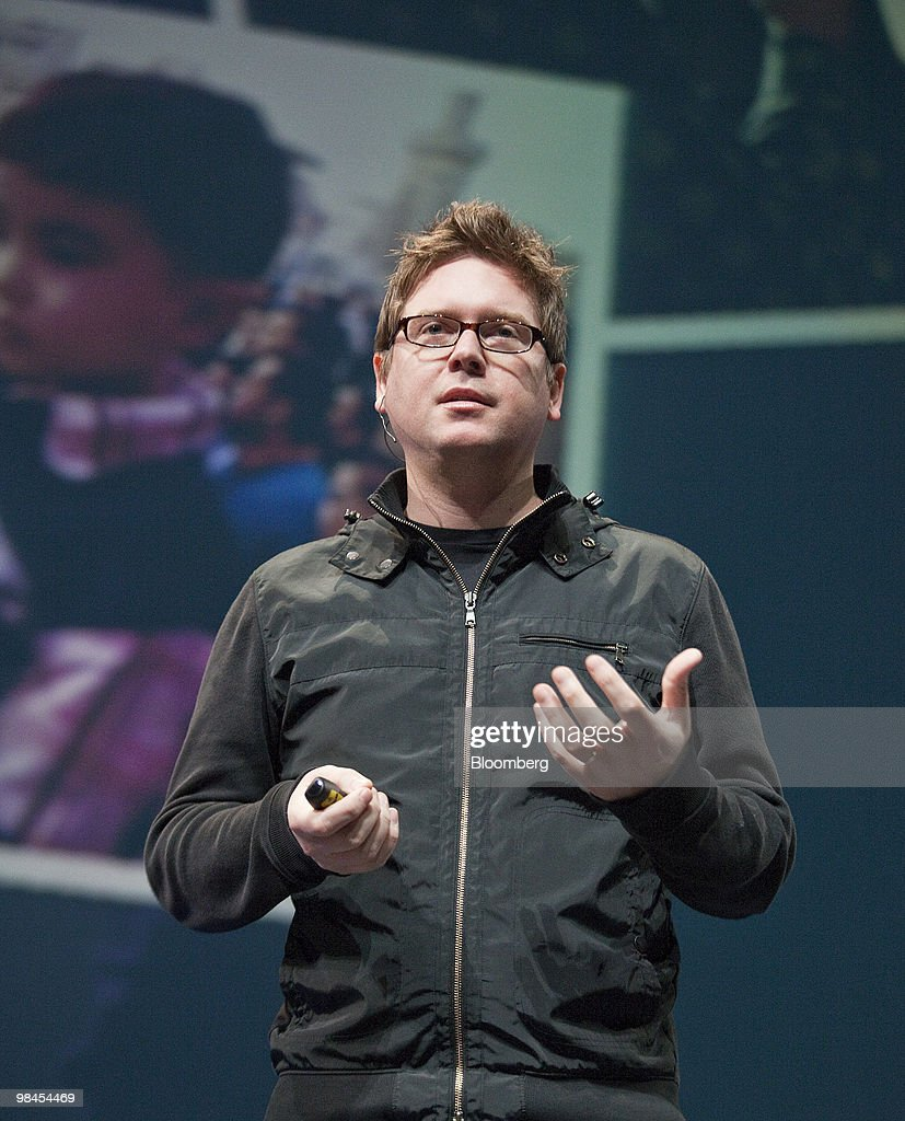 Christopher 'Biz' Stone, creative director and co-founder of Twitter Inc., speaks during Twitter's Chirp conference at the Palace of Fine Arts in San Francisco, California, U.S., on Wednesday, April 14, 2010. Twitter Inc., the social-networking service whose users post about 50 million short messages a day, will start running advertising to generate sales from marketers eager to reach its audience. Photographer:Chip Chipman/Bloomberg via Getty Images