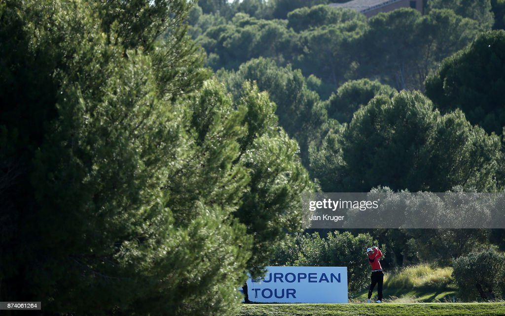 Christopher Blomstrand of Sweden in action during round four of the European Tour Qualifying School Final Stage at Lumine Golf Club on November 14, 2017 in Tarragona, Spain.
