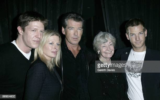 Christopher Brosnan Charlotte Brosnan Pierce Brosnan his mother and Sean Brosnan attend the after show party following the UK Premiere of 'The...