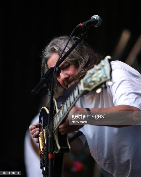 Christopher Bryant of the Jackie Lynton band performs at Weyfest Festival on August 19 2018 in Tilford England