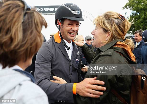 Christopher Burton of Australia is congratulated after winning The Land Rover Burghley Horse Trials 2016 on Nobilis 18 on September 4 2015 in...
