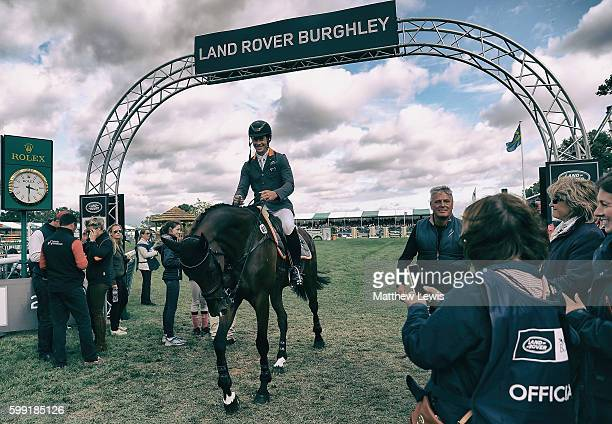 Christopher Burton of Australia pictured after winning The Land Rover Burghley Horse Trials 2016 on Nobilis 18 on September 4 2015 in Stamford England