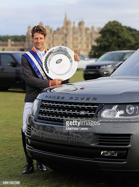 Christopher Burton of Australia pictured after winning The Land Rover Burghley Horse Trials 2016 on September 4 2015 in Stamford England
