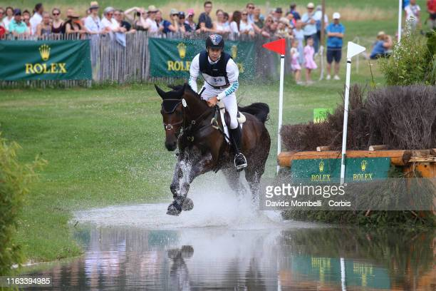Christopher Burton of Australia riding riding Quality Purdey, during SAP-Cup, Rolex Cross-Country Course Soers, Aachen on July 20, 2019 in Aachen,...