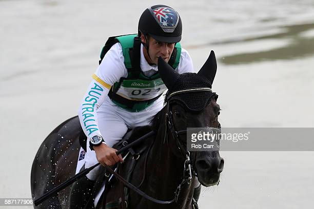 Christopher Burton of Australia riding Santano II competes during the Cross Country Eventing on Day 3 of the Rio 2016 Olympic Games at the Olympic...