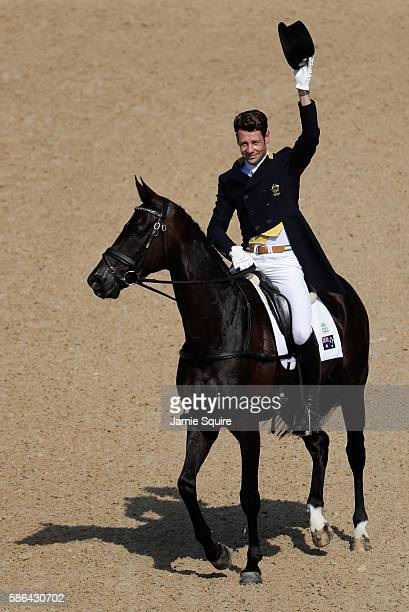 Christopher Burton of Australia riding Santano II competes in the Individual Dressage event on Day 1 of the Rio 2016 Olympic Games at the Olympic...