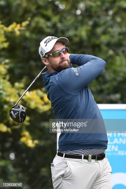 Christopher Cannon hits his drive off the 10th tee during day two of the Northern Ireland Open at Galgorm Spa & Golf Resort on September 4, 2020 in...