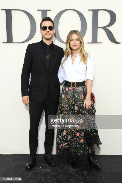 Christopher Charles Wood and Melissa Benoist attend the Christian Dior show as part of the Paris Fashion Week Womenswear Spring/Summer 2019 on...