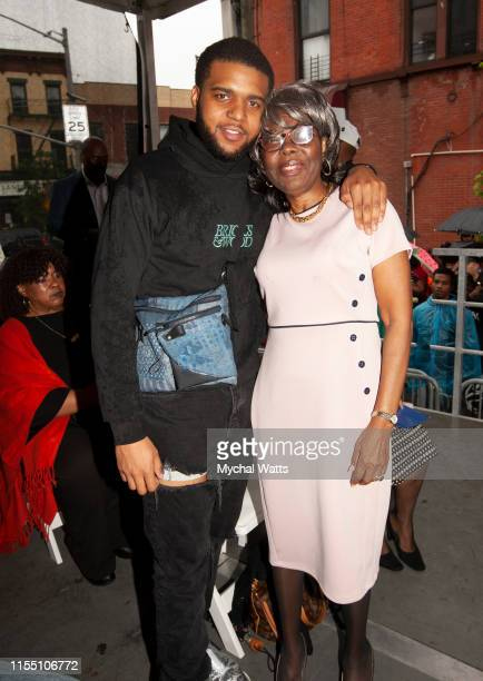 Christopher 'CJ' Wallace and Voletta Wallace attend the Notorious B.I.G. Street Naming in Brooklyn New York on June 10, 2019 in Brooklyn, New York....