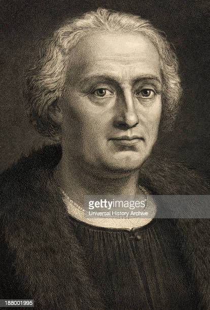 Christopher Columbus 14511506 Italian Born Spanish Financed Explorer Discoverer Of America From A 19Th Century Print After A Work By Bartholomeo De...