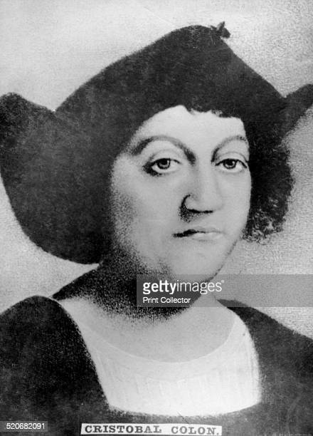 Christopher Columbus 1920s Great Genoves sailor who discovered the new world Cigar card from the History of Cuba Geografico Universal Propaganda de...