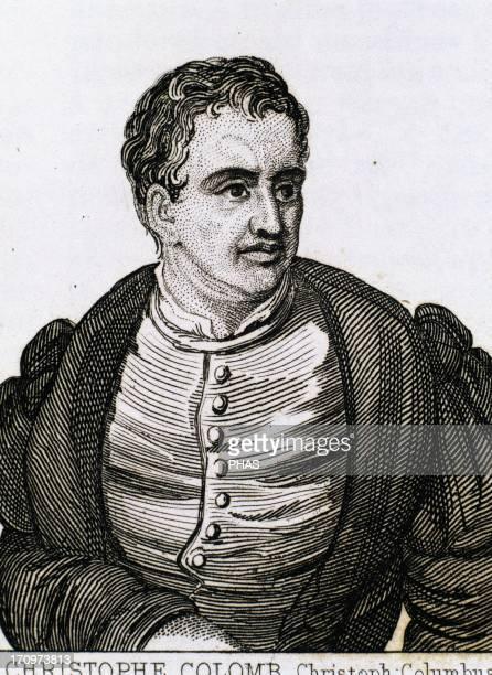 Christopher Columbus Explorer and navigator genoese Engraving