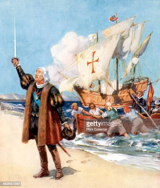 Christopher Columbus landing in America