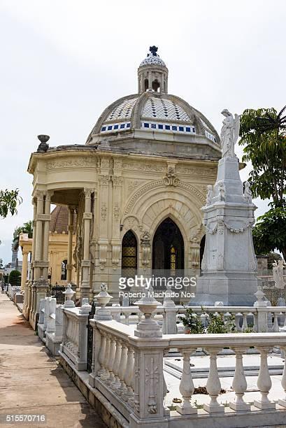 Christopher Columbus or Colon cemetery Spanish Cementerio de Colon Large family tomb in main entrance street The Cementerio de Colon landmark is...