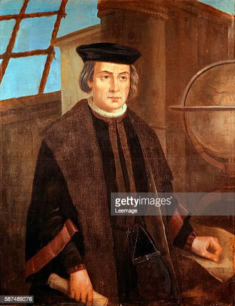 Christopher Columbus painting by Jose Roldan Monastery of La Rabida Huelva Andalusia Spain