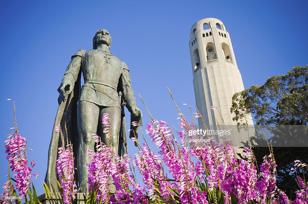 Statue Of Heart At Union Square In San Francisco Editorial ... |Coit Tower Flowers