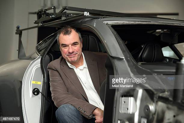 Christopher Corbould special effects coordinator on 'Spectre' attends a photocall for an exhibition of the Cars featured in the new James Bond film...