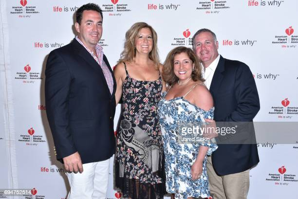 Christopher Cox Christina Cox Dr Jean Cacciabaudo and Dr William Maiorino attend the 21st Annual Hamptons Heart Ball at Southampton Arts Center on...