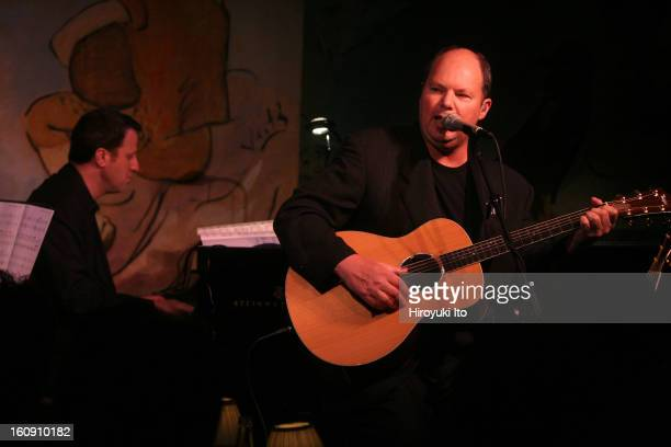 Christopher Cross performing at the Cafe Carlyle on Tuesday night April 15 2008This imageChristopher Cross with Andy Ezin